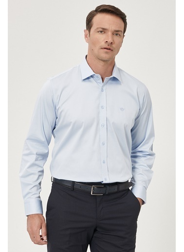 Beymen Business 4B2000000013 Regular Fit Gömlek Saten Mavi